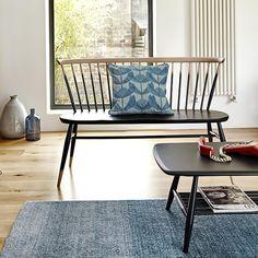 The Ercol Originals - Love Seat in Black - Designer Dining Chairs