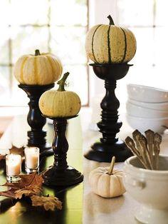 pumpkin candlesticks