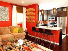 Rot Und Braun Wohnzimmer #couch #tapeten #wandgestaltung #wandfarbe #beige  #ideen
