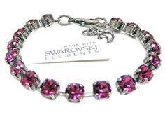 Armband mit Swarovski Elements -Uni- Fuchsia Günstig