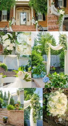Creating a beautiful wedding takes a team, and capturing the magic takes an amazing photographer.  Beautiful arrangements by Flowers Unlimited Designs and Events and photography by Swadley Studios.  And the venue...yours truly, the Historic McFarland House.