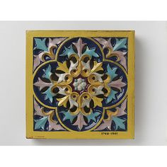 AWN Pugin Tile by Minton & Co (the Minton archive is under threat) see http://www.artfund.org/mintonarchive/