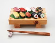 Pretty Japanese Chopstick Rest / Tokyo Pic #sushi #鮨 #寿司 #すし #消しゴム #箸