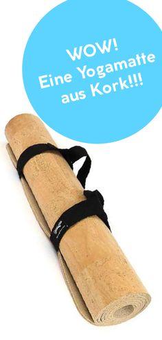 Bequeme Yogamatte aus Kork: Leicht, pflegeleicht und sehr robust. Yoga Accessoires, Vegan Products, Vegan Fashion