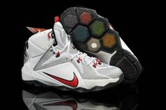 huge selection of ed7c1 20220 2018 Cheap Priced Womens and Kids Nike LBJ 12 Cavs Home White Red PE