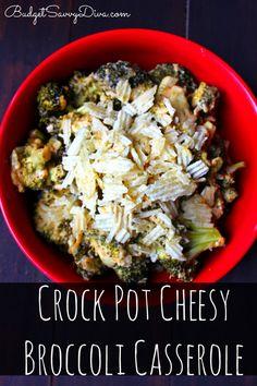The perfect side dish - easy and cheesy :) Crock Pot Cheesy Broccoli Casserole Recipe