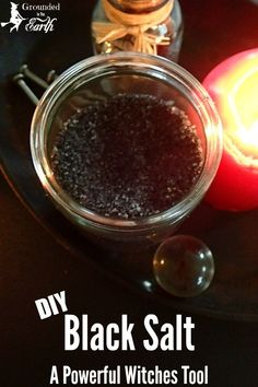 Back salt is a powerful tool for protection, uncrossing, and even crossing. This DIY black salt is easy and makes a great tool for ridding negative energy in your life. Wiccan Spell Book, Wiccan Spells, Spell Books, Jar Spells, Witch Spell, Banishing Spell, Tarot, Witch Shop, Wiccan Crafts