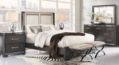 picture of Eric Church Highway To Home Silverton Sound Graphite 5 Pc Queen Upholstered Bedroom from  Furniture