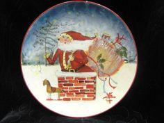 "Authentic Susan Winget Decorative 8"" x 8"" Christmas Plate"