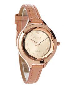 Look what I found on #zulily! Rose Gold Strap Watch #zulilyfinds