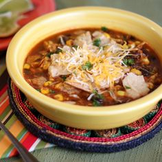 This spicy take on traditional Mexican tortilla soup will hit the spot.