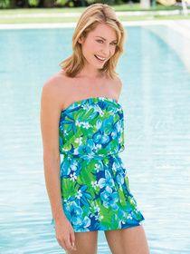 Two-piece Bandeau Swim Dress by Ceeb