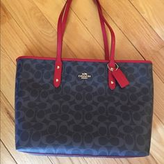 NEW Coach Signature Denim City Zip Tote NEW COACH signature tote from the new spring line. Perfect for the upcoming season!  no trade no PayPal no holds no lowball offers✅10% off bundles✅ reasonable offers considered Coach Bags Totes