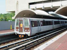 Alstom metro trains in Washington DC at Cheverly station