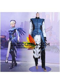 Overwatch Mercy Cobalt Simple Cosplay Costume