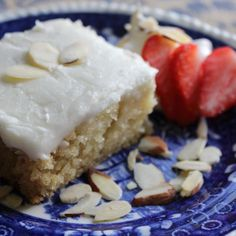 Almond Cake with Almond Icing Most Addictive
