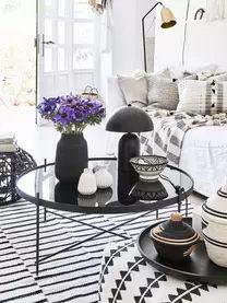 Mesa de centro redonda Cupid, tablero de cristal | WestwingNow Round Coffee Tables, Powder Paint, Modern Design, Living Room, Centerpieces, Board, Crystals