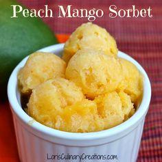 Peach Mango Sorbet because summer isn't over yet!