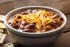 beef chili + sour cream cheddar biscuit by smitten, via Flickr ...