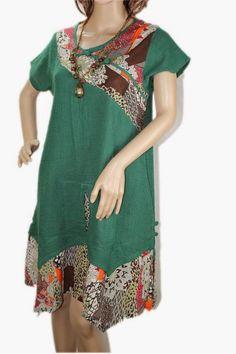 ethnic patchwork irregular hem Mini babydoll dress by MaLieb by Lieb Ma Mori Girl Fashion, Fashion Art, Fashion Outfits, Mall Outfit, Black Linen, Babydoll Dress, Summer Dresses For Women, The Dress, Prom Dresses
