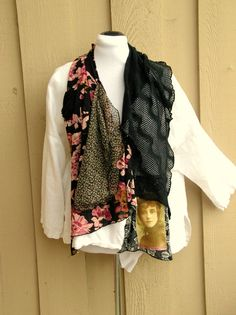 Reconstructed Linen Tunic One of a Kind by JacketsbyJahne on Etsy, $98.00