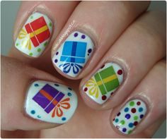 Nail Call: Moon Sugar Decals : Wrapped Gifts - holiday package water decals