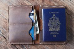 Passport Wallet, portefeuille passeport en cuir, voyage pochette, passeport porte passeport en cuir, pochette document - Listing #021