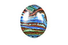 32 mm African Rainbow Calsilica cabochon by Fabbydabbystones, $19.90