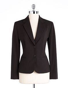 Tahari Notched Collar Blazer, $129    (Suggested item to recreate this outfit: http://www.closet-coach.com/2012/12/05/working-mom-client-meeting-outfit-chocolate-and-turquoise/)