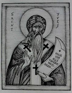 Saint Yves, image peinte à la main
