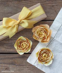 Paper Ranunculus in Yellow