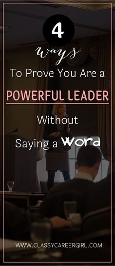 "4 Ways To Prove You Are a Powerful Leader Without Saying a Word When you start managing your new business, change careers, or start aiming for a promotion, there's a tendency to get wrapped up in the details of thinking, looking, and acting the ""right way"" to land the sale. Often, this can make us appear anxious, needy, or even desperate to our co-workers, customers, and clients. Read more: http://www.classycareergirl.com/2016/09/leader-powerful-prove/"