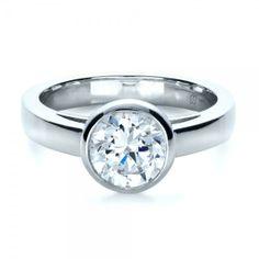 3 Diamond Engagement Rings Bezel Setting 12