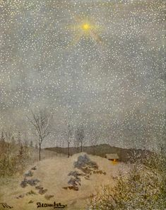 The North Star - by Theodor Kittelsen