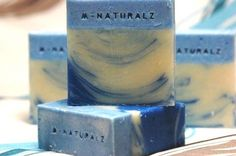 """Gold Coast Blue Soap by B-Naturalz  """"This soap was inspired by beautiful Gold Coast Beach. Smells like ocean breeze."""""""