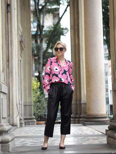 Unikkoa ja nahkahousuja | Marimekko, OOTD, leather pants, Unikko silk shirt - Pupulandia | Lily.fi