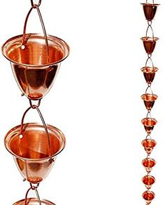 rain chain for my gardens, connect onto gutter at corner of house let hang into a bucket or tub to collect water How To Make A Rain Chain, Pick One, Alcoholic Drinks, Copper, Glass, Rain Chains, Amazon, Tub, Connect