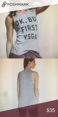 Spiritual Gangster OK, But First Yoga Muscle Tank Super soft Spiritual Gangster Tops Tank Tops