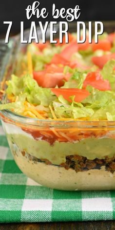 The Ultimate 7 Layer Dip recipe is packed with layers of Cream Cheese Sour Cream Ground Beef and or Beans Guacamole Salsa Cheese and Taco Dip With Meat, Beef Dip, 7 Layer Dip Recipe With Meat, Ground Beef Taco Dip, Mexican Dip Recipes, Bean Dip Recipes, Mexican Dips, Potato Recipes, Appetizers For Party