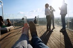 T & Serendipity: Music + Views + Jozi = Randlords Balcony TV!