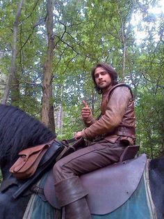 The Musketeers - Series II BtS filming via Jessica Pope's Twitter (D'Artagnan) Luke Pasqualino