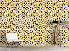 Design #Tapete Kringel Ringe