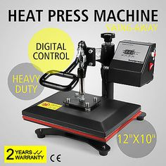 "NEW DIGITAL SWING AWAY HEAT PRESS TRANSFER T-SHIRT SUBLIMATION MACHINE 12"" X 10"""