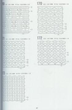262 Puntos a Crochet Crochet Diagram, Crochet Chart, Crochet Motif, Crochet Lace, Crochet Patterns Free Women, Crochet Blanket Patterns, Stitch Patterns, Chevron Crochet, Curtain Patterns