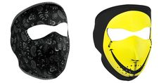 Amazon.com: Bundle (2 Items): 1 ZanHeadgear 'Dark Paisley' Full Face Neoprene Face Masks -AND- 1 Zan 'Smiley Face' Full Face Neoprene Face Masks, Ski Mask: Automotive