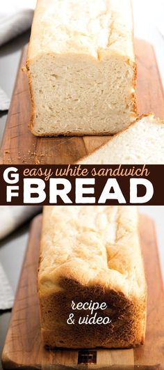 This soft and tender gluten free white sandwich bread bends and squishes. This yeast bread recipe is so easy, lunch will never be the same again! #glutenfreebread #easybread #sandwiches #softbread