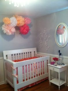 Maylands pink and grey baby girl nursery
