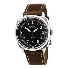 Bulova 96B230 Gent's Military UHF Quartz Brown Leather Band Watch,    #Bulova,    #Bulova96B230