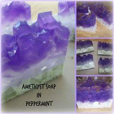 Amethyst Crystal Soap by RavensRestShop on Etsy