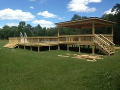 Deck for our above-ground pool!